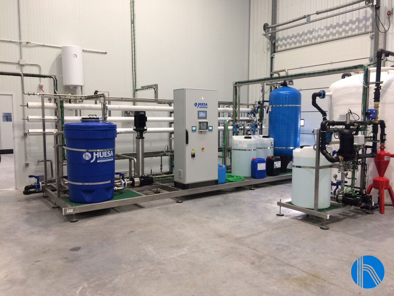 J. Huesa principal supplier of the integral water cycle equipment in a spirits drinks factory