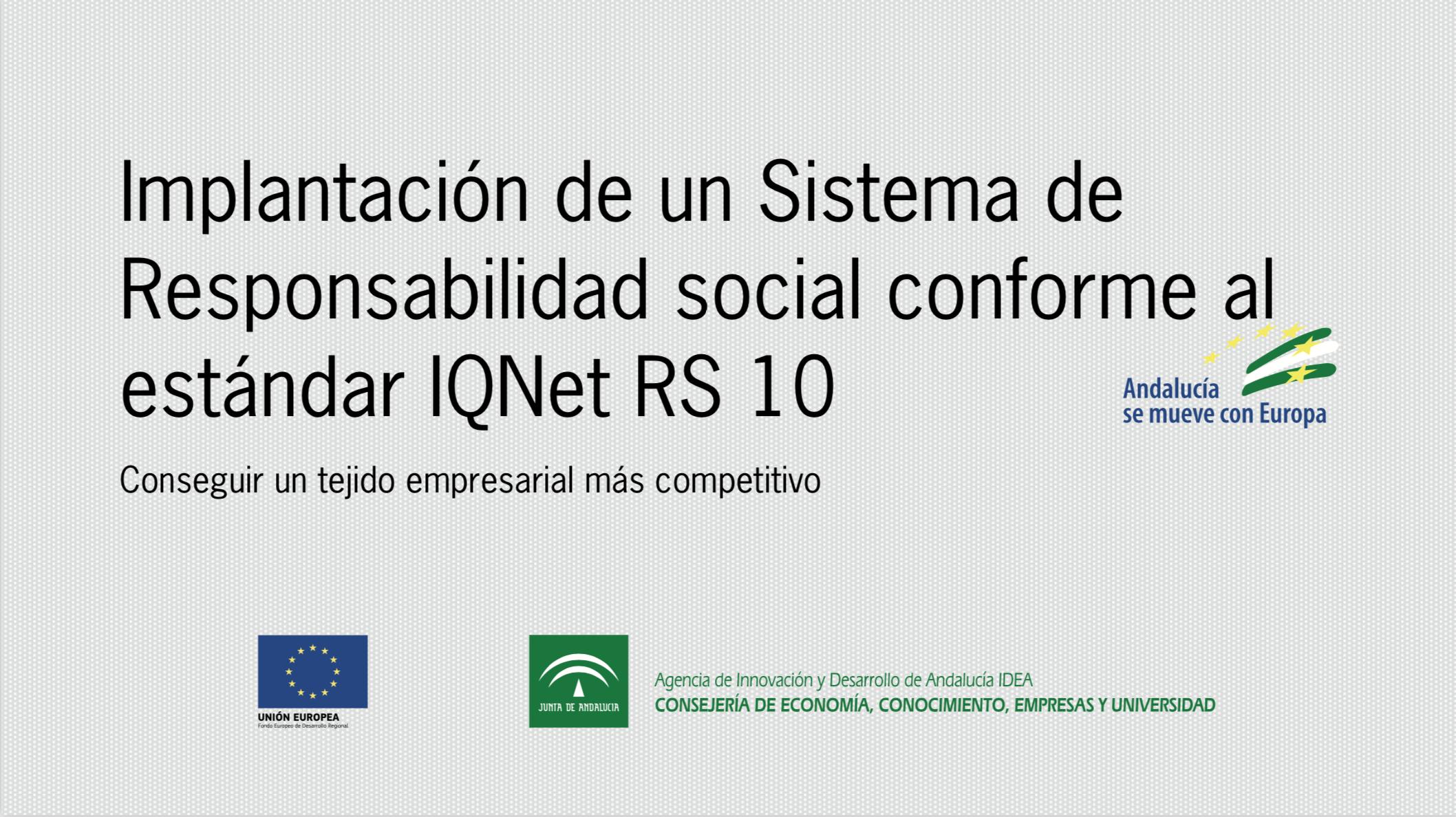 Implantación de un Sistema de Responsabilidad Social conforme al estándar IQNet SR 10