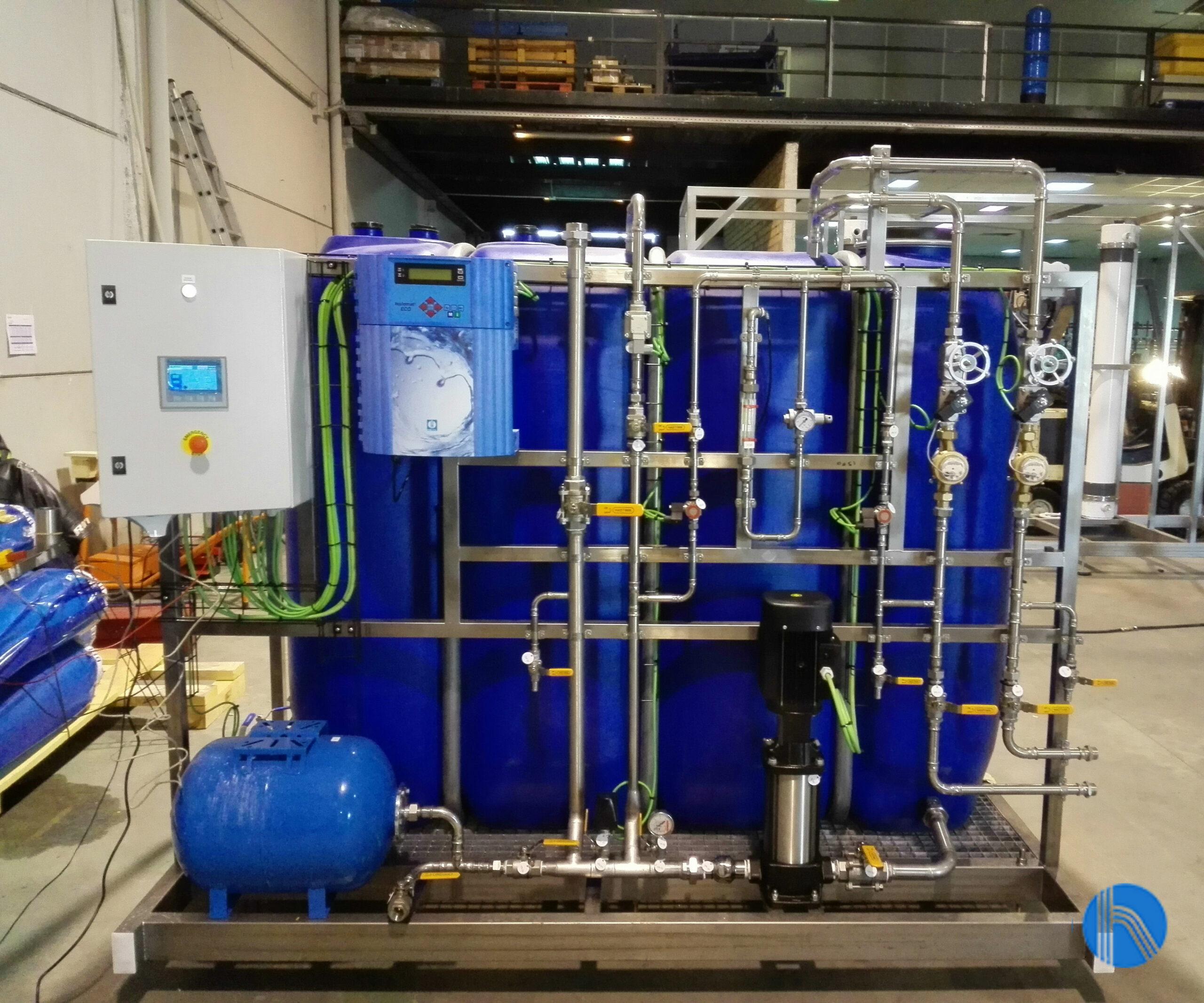 Instalación de un sistema de control de agua en el sector químico