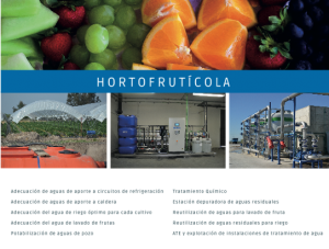 J. HUESA WATER TECHNOLOGY SECTOR HORTOFRUTÍCOLA Fruit Attraction