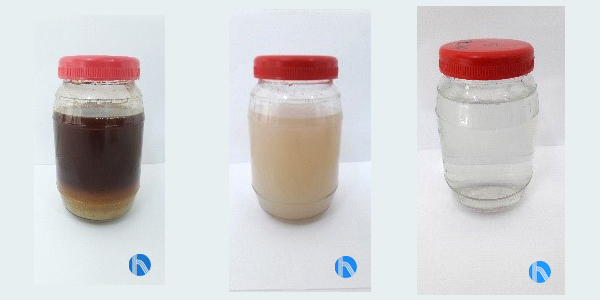 agua clarificada libre de sólidos
