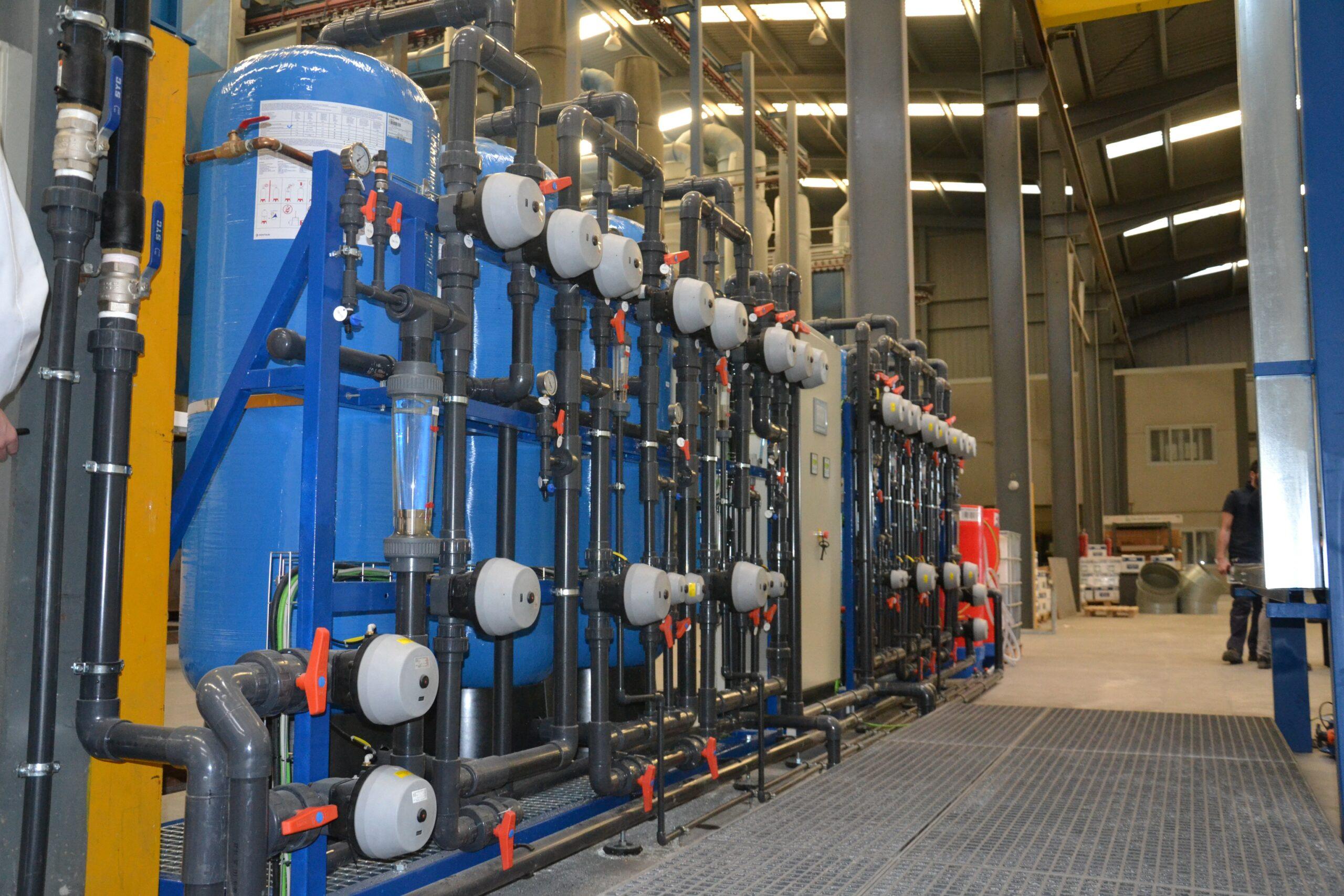 Adecuación agua de proceso en lineas de producción de piezas de aluminio