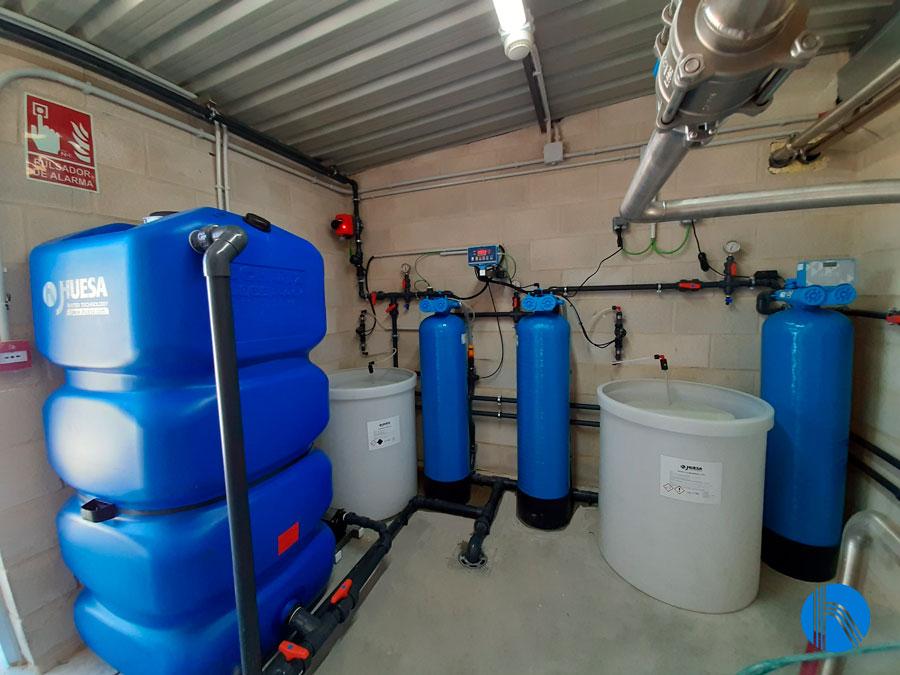 Solución para aportar agua de red como coformulante de biocidas líquidos